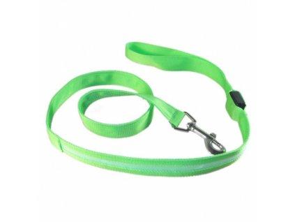 Textilní svítící vodítko - zelené