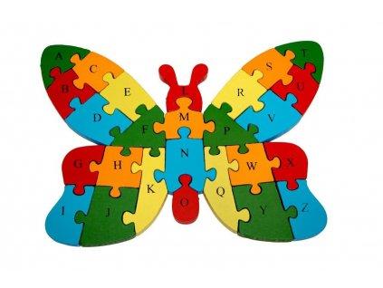 Vzdělávací dřevěné puzzle - motýl C106