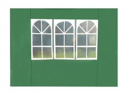 Bočnice stanu 3 x 3 m s okny zelená, 2268