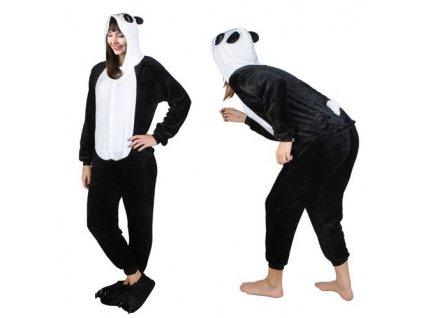 Overal Panda vel. M - černý, 4547