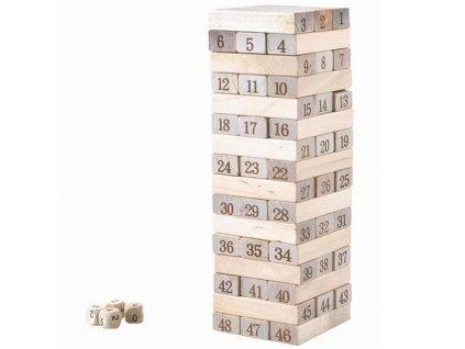 Jenga věž přírodní dřevo, 5394