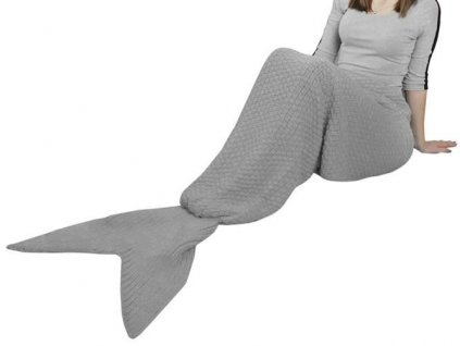 Deka mořská panna XXL 225x110 cm, šedá, 5597