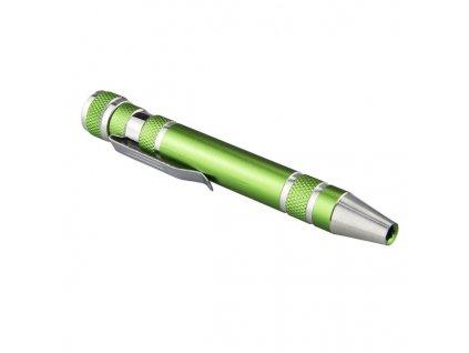 Šroubovák v tužce, zelený