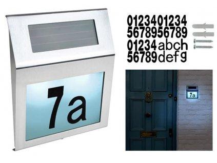 Solární osvětlení domovního čísla 18 x 20 cm, 6783