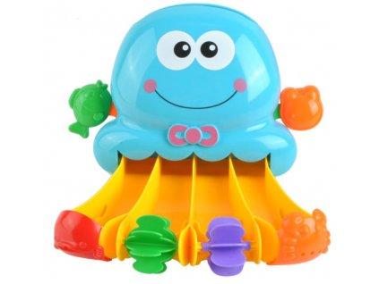 Mlýnek do vany s přísavkou chobotnice, modrý, 7487