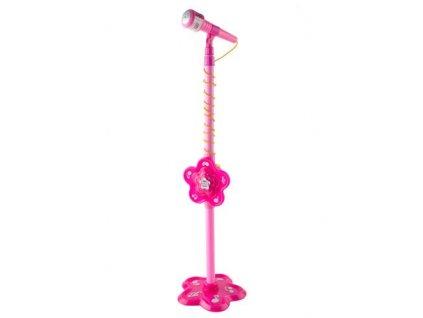 Mikrofon se stojanem pro MP3 růžová, 8235