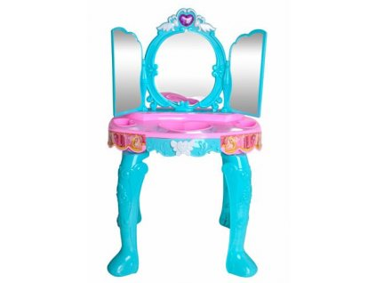 Toaletní stolek pro holčičky + příslušenství XXL, modrá, 8488