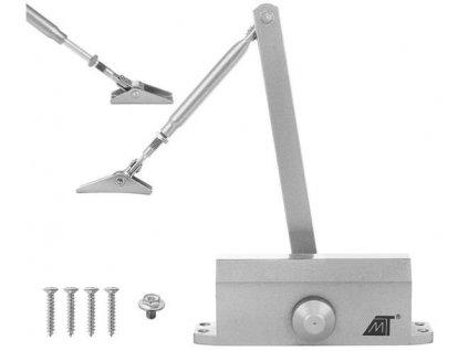 Zavírač dveřní 40-60 kg, stříbrná, 8471