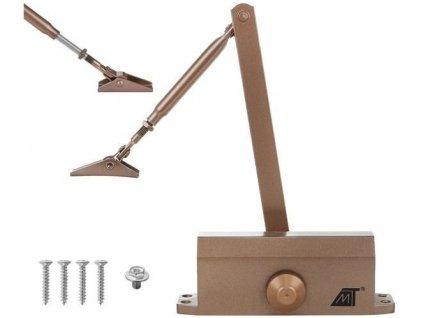 Zavírač dveřní 40-60 kg, hnědá, 8470
