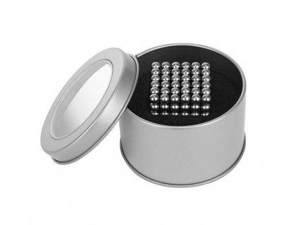 NeoCube 5mm, 216 magnetů, stříbrná, 9031