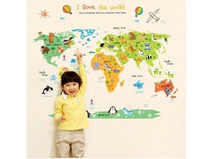 Dětská mapa světa K201