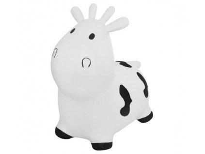 Zvířátko skákací kravička s pumpou Kruzzel, bílá, 8773