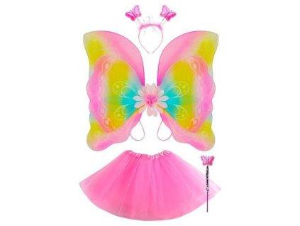 Kostým motýlek s tykadly, 8638