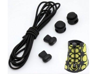 Easy tkaničky - černé H212