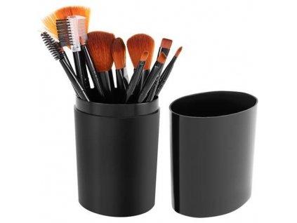 Sada kosmetických štětců 12 kusů, černá, 8694