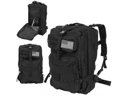 Vojenský batoh 38L černá, 8919