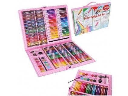 Výtvarná sada Mega Art Set 168 ks růžová, 9174