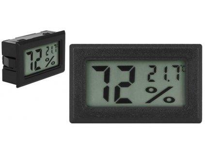 Digitální LCD teploměr a vlhkoměr do panelu, 9310