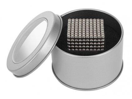 Neocube 3mm, 1000 magnetů, krabička, stříbrná, 9451