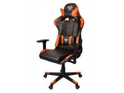 Malatec 9007 Herní židle LED, černo oranžová
