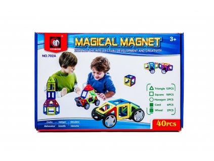 Magnetická stavebnice Magical Magnet 40 dílů, KX9680