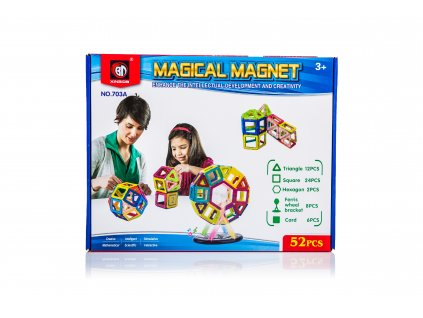 Magnetická stavebnice Magical Magnet 52 dílů, KX9681