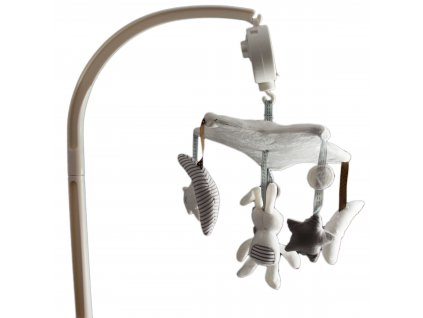 Hrací kolotoč nad postýlku s plyšovými přívěsky, KX9926