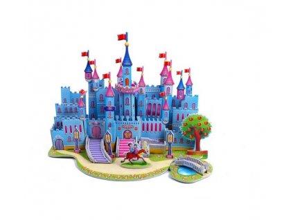 Kartonové 3D puzzle Zámek modrý, KX7528_3
