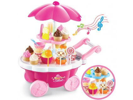 Zmrzlinový vozík, růžová, KX7677
