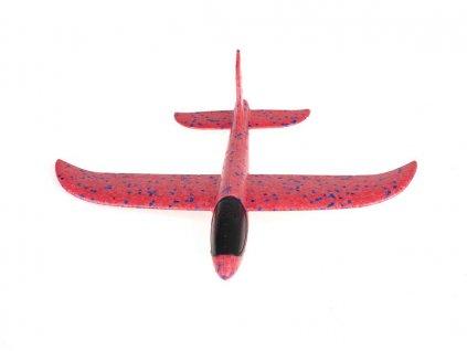 Pěnové házecí letadlo s dlouhým doletem 34x33cm - červené, KX7839