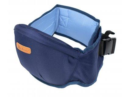 Bederní pás pro nošení dětí - sedatko pro dítě, modrý, KX7849_3
