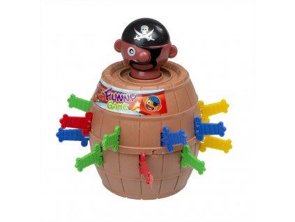 Hra pro děti Pirat v sudu 9x9x12,5 cm, KX7876