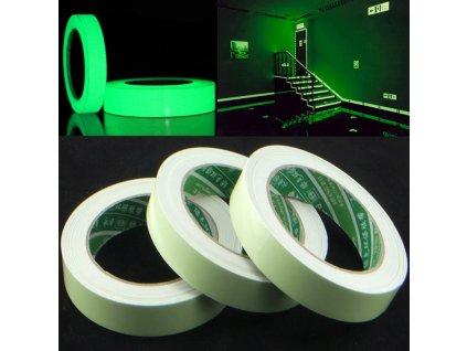 Bezpečnostní svítící páska 12mm x 3m, KX6857