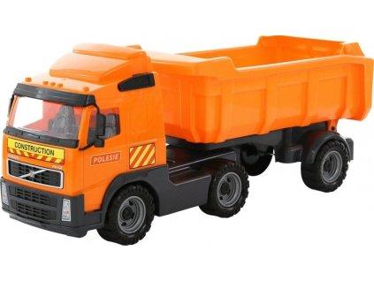 WADER 8749 Auto sklápěčka s návěsem 59x19x25cm, oranžová, KX6880