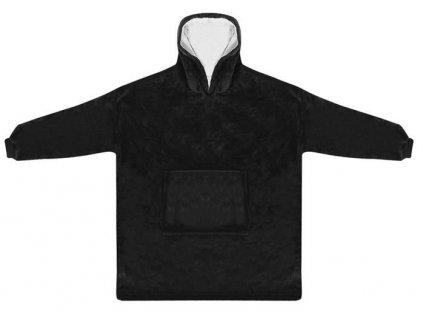 Televizní mikina s kapucí XXL, černá, 9388