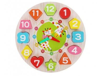 Dřevěné dětské edukační hodiny, 9356