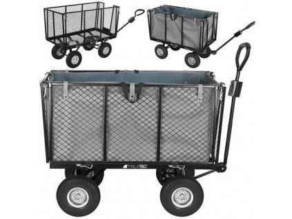 Zahradní vozík s výklopnými boky nosnost 600 Kg, 9040
