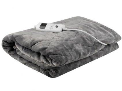 Vyhřívací deka 180 x 130 cm šedá, 8817