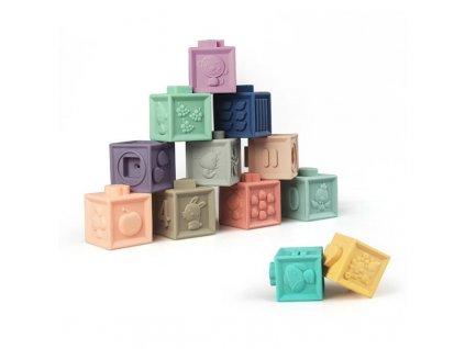 Měkké senzorické hrací kostky 12ks, KX7294