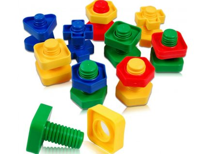 Konstrukční dětská stavebnice šrouby 30 dílů, KX7423