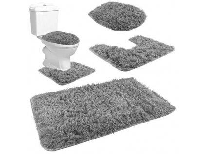 Koupelnová a WC předložka 80x50cm 3ks, šedá, 8312