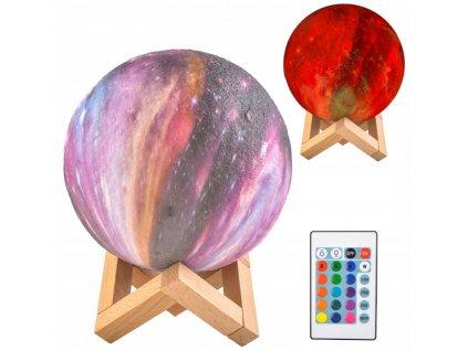 Lampička barevný měsíc 15cm, 16 barev, 9510