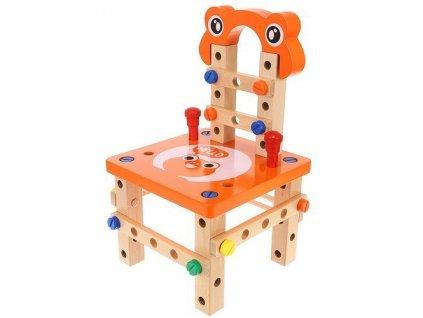 Dřevěná skládací stavebnice židle, 9441