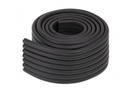 Pěnová páska na ochranu hran stolu 8x1x200 cm, černá, KX7439