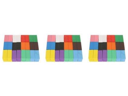 Dřevěné domino barevné 407ks, 9357