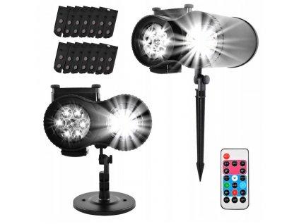 Projektor LED venkovní 12 motivů s dálkovým ovladačem, 9565