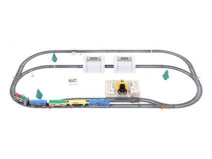 Vláčkodráha nákladní vlak na baterie velká sada 5.5m, 9412