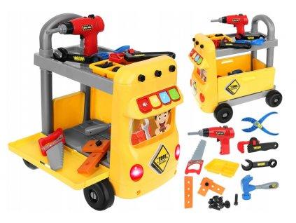 Dětský vozík s nářadím 38 dílů, 9424