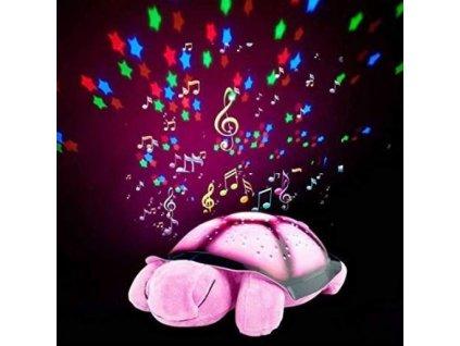 Noční svítící želvička - růžová O505