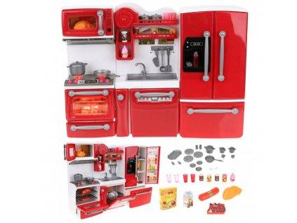 Kuchyňka pro panenky, červená, 9425